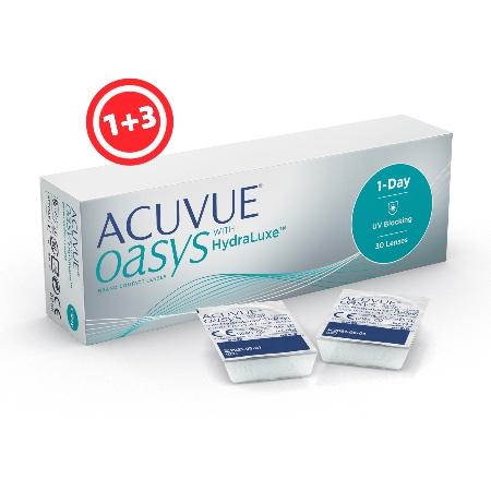 עדשות מגע יומיות | Acuvue Oasys One Day 30- Contact Lenses| -0