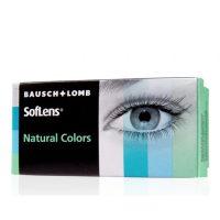 זוג עדשות מגע צבעוניות חודשיות | Softlens Natural colors 2 Pack | -0